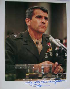 Oliver North autograph