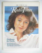 <!--1984-03-10-->Radio Times magazine - Cherie Lunghi cover (10-16 March 19