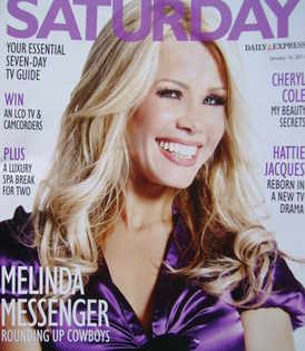 <!--2011-01-15-->Saturday magazine - Melinda Messenger cover (15 January 2011)