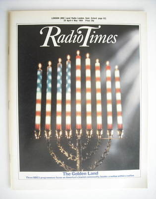 <!--1984-04-28-->Radio Times magazine - The Golden Land cover (28 April - 4