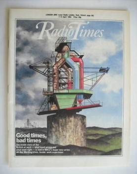 Radio Times magazine - Good Times, Bad Times cover (7-13 April 1984)