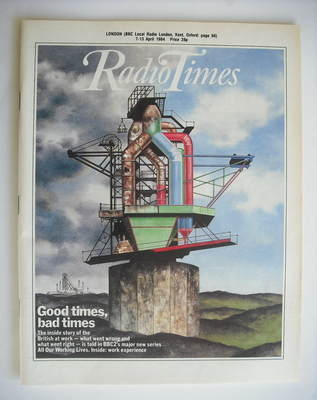 <!--1984-04-07-->Radio Times magazine - Good Times, Bad Times cover (7-13 A