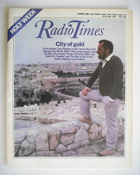 <!--1984-04-14-->Radio Times magazine - City Of Gold cover (14-20 April 198