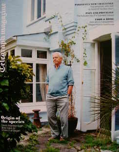 <!--2010-10-30-->Telegraph magazine - David Attenborough cover (30 October
