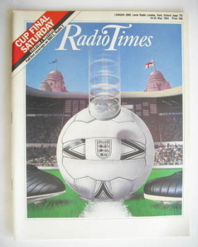 Radio Times magazine - Cup Final cover (19-25 May 1984)