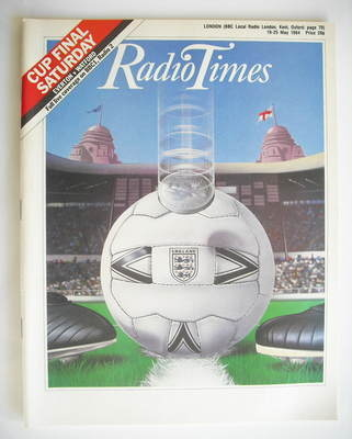 <!--1984-05-19-->Radio Times magazine - Cup Final cover (19-25 May 1984)
