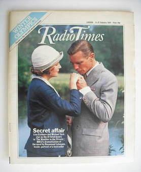 <!--1984-02-11-->Radio Times magazine - Lisa Eichhorn and Michael York cove