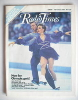 <!--1984-02-04-->Radio Times magazine - Jayne Torvill and Christopher Dean cover (4-10 February 1984)