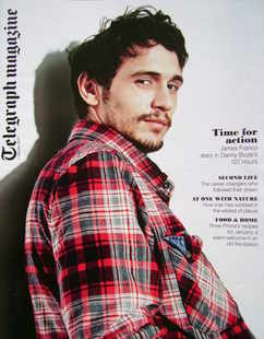 <!--2011-01-01-->Telegraph magazine - James Franco cover (1 January 2011)