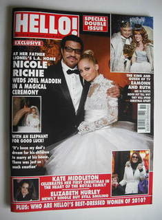 <!--2011-01-03-->Hello! magazine - Nicole Richie and Lionel Richie cover (3