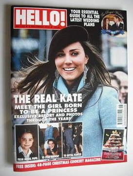 <!--2010-12-06-->Hello! magazine - Kate Middleton cover (6 December 2010 -