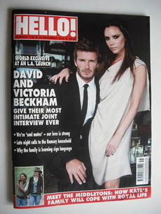 <!--2010-11-15-->Hello! magazine - David Beckham and Victoria Beckham cover