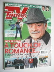 <!--2004-02-21-->TV Times magazine - David Jason cover (21-27 February 2004