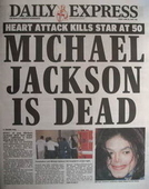 Daily Express newspaper - Michael Jackson cover (26 June 2009)