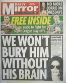 Daily Mirror newspaper - Michael Jackson cover (9 July 2009)