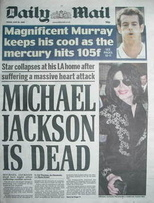 Daily Mail newspaper - Michael Jackson cover (26 June 2009)