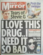 Daily Mirror newspaper - Michael Jackson cover (24 July 2009)