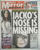 Daily Mirror newspaper - Michael Jackson cover (25 July 2009)
