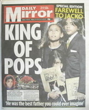 Daily Mirror newspaper - Prince Michael, Paris and Blanket cover (8 July 20