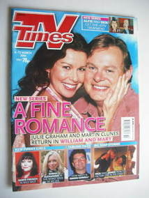 <!--2004-03-06-->TV Times magazine - Julie Graham and Martin Clunes cover (