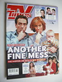 <!--2004-03-13-->TV Times magazine - Robert Lindsay and Zoe Wanamaker cover