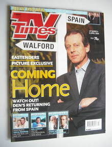 <!--2004-03-27-->TV Times magazine - Leslie Grantham cover (27 March - 2 Ap
