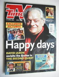 <!--2004-04-03-->TV Times magazine - David Jason cover (3-9 April 2004)