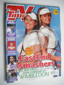 <!--2004-06-19-->TV Times magazine - Jill Halfpenny and Kim Medcalf cover (