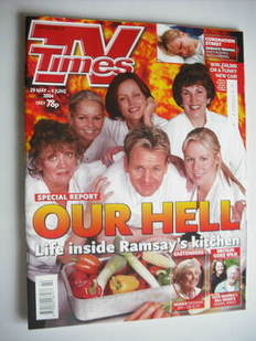 <!--2004-05-29-->TV Times magazine - Hell's Kitchen cover (29 May - 4 June