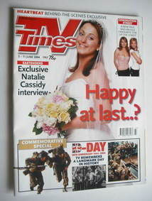 <!--2004-06-05-->TV Times magazine - Natalie Cassidy cover (5-11 June 2004)