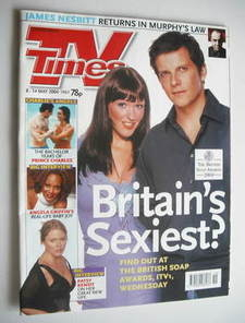 <!--2004-05-08-->TV Times magazine - Nigel Harman and Suranne Jones cover (