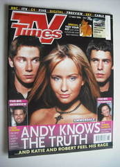 <!--2004-05-01-->TV Times magazine - Kelvin Fletcher, Sammy Winward and Kar