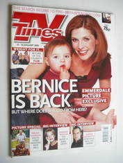 <!--2004-01-10-->TV Times magazine - Samantha Giles cover (10-16 January 20
