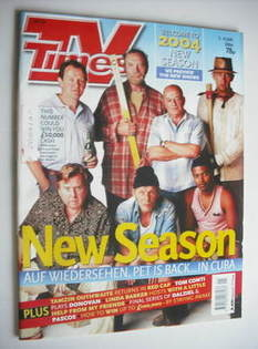 <!--2004-01-03-->TV Times magazine - Auf Wiedersehen, Pet cover (3-9 Januar