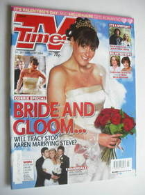 <!--2004-02-14-->TV Times magazine - Suranne Jones cover (14-20 February 20