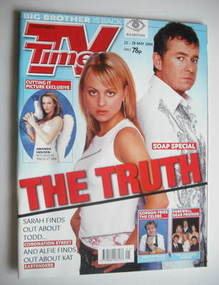 <!--2004-05-22-->TV Times magazine - Shane Richie and Tina O'Brien cover (2