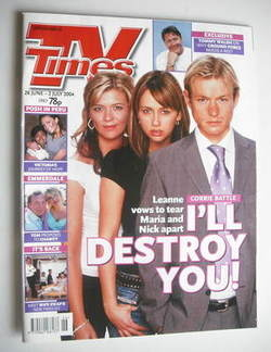<!--2004-06-26-->TV Times magazine - Samia Ghadie, Jane Danson and Adam Ric