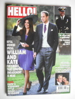 <!--2010-11-08-->Hello! magazine - Prince William and Kate Middleton cover (8 November 2010 - Issue 1148)