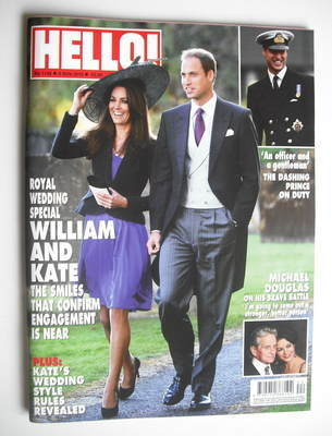 <!--2010-11-08-->Hello! magazine - Prince William and Kate Middleton cover