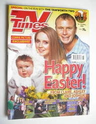<!--2004-04-10-->TV Times magazine - Julia Haworth and Steven Arnold cover