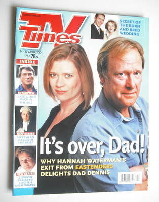 <!--2004-04-24-->TV Times magazine - Hannah Waterman and Dennis Waterman co