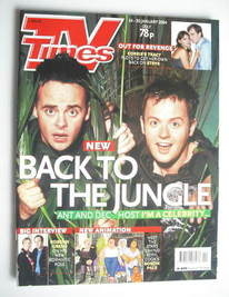 <!--2004-01-24-->TV Times magazine - Ant and Dec cover (24-30 January 2004)
