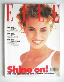 British Elle magazine - May 1990 - Niki Taylor cover