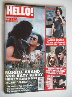 <!--2010-10-25-->Hello! magazine - Russell Brand and Katy Perry cover (25 O