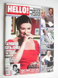 <!--2010-10-11-->Hello! magazine - Catherine Zeta Jones cover (11 October 2