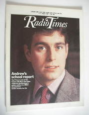 <!--1984-08-11-->Radio Times magazine - Prince Andrew cover (11-17 August 1