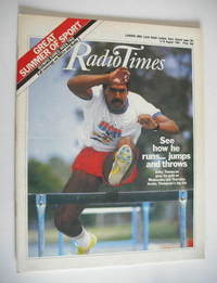 <!--1984-08-04-->Radio Times magazine - Daley Thompson cover (4-10 August 1