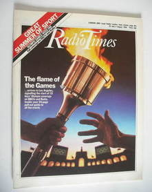 <!--1984-07-28-->Radio Times magazine - The Flame of the Games cover (28 Ju
