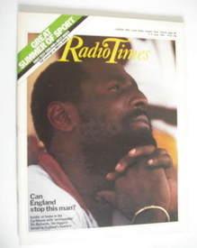 <!--1984-06-09-->Radio Times magazine - Viv Richards cover (9-15 June 1984)