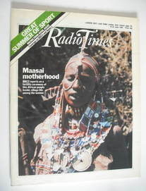 <!--1984-06-16-->Radio Times magazine - Maasai Motherhood cover (16-22 June